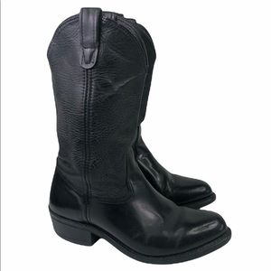 Double H Black Leather Cowboy Western Boots 4620